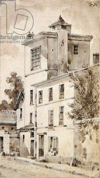 The Tower where Louis-Jacques Daguerre made his discoveries (w/c on paper)