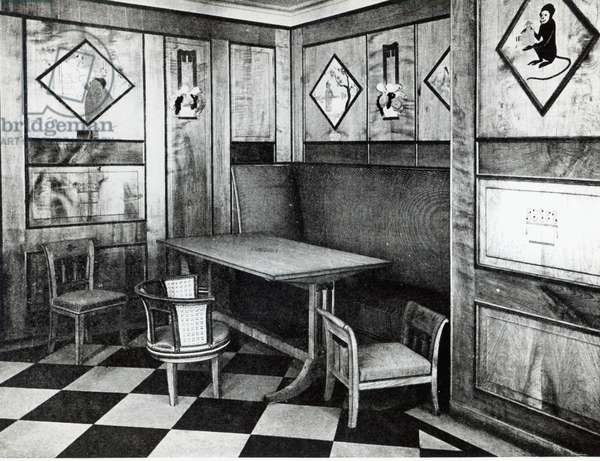 The Children's Playroom in the Ocean Liner 'Paris', July 1921 (b/w photo)