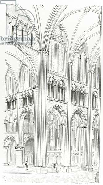Interior of Cluny Cathedral (engraving)