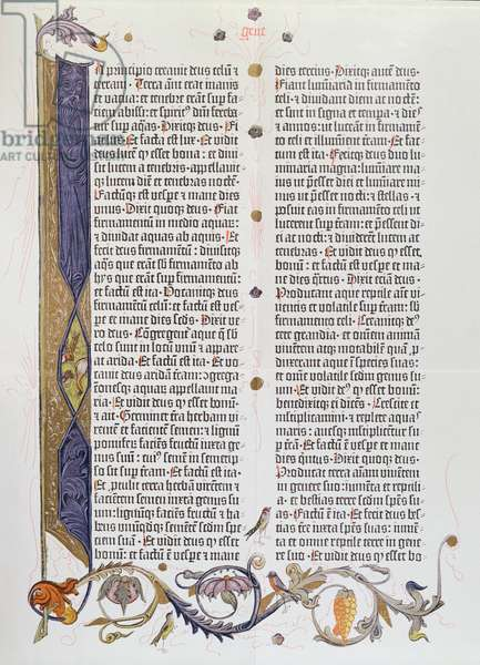 The 36-line Bible, printed by Gutenberg (vellum)