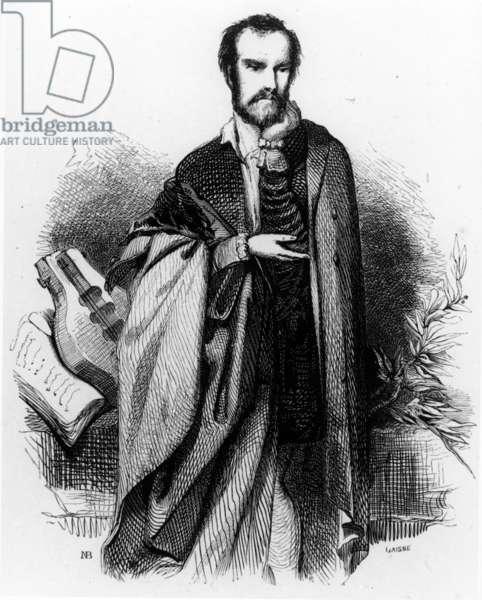 Le Tasse, frontispiece to 'Jerusalem Delivered' by Torquato Tasso, 1841 edition (engraving)