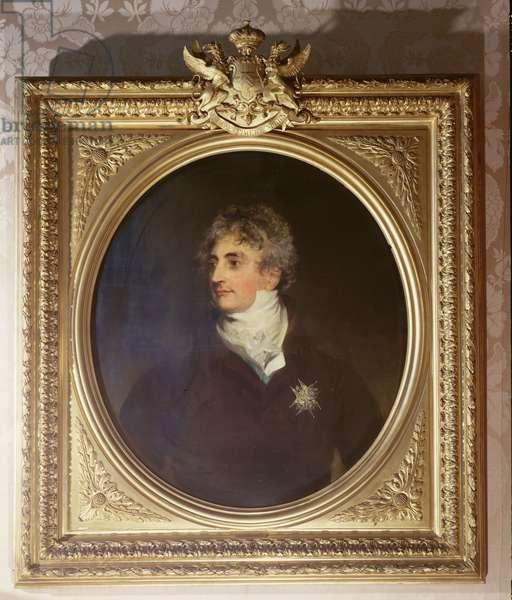 Portrait of Duke Armand-Emmanuel de Richelieu (1766-1822) 1822 (oil on canvas)