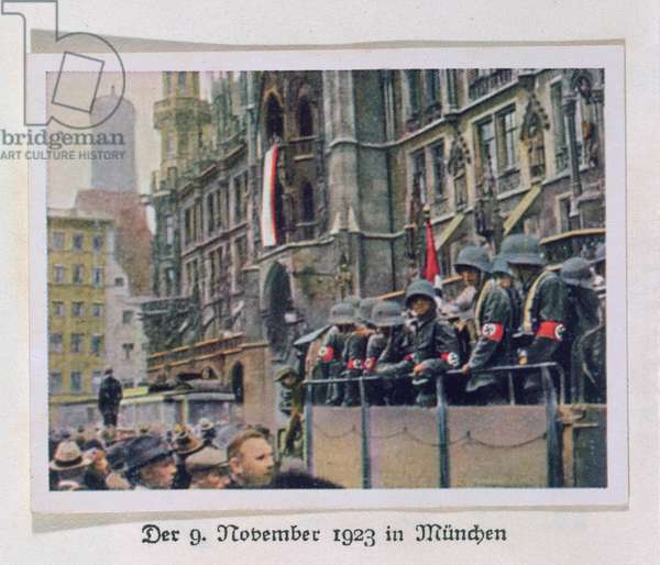 Images from Hitler's Munich Putsch of 1923, from a combat album of the evolution of the 3rd Reich, 1933 (photo) (detail of 212461)