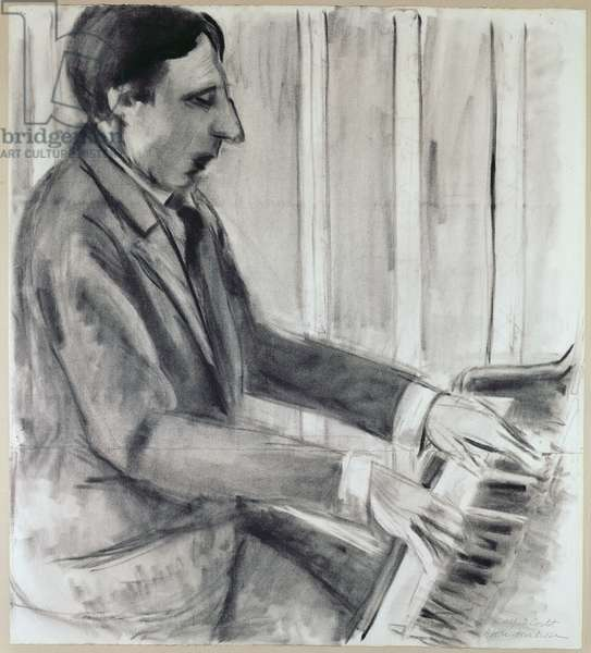 Alfred Cortot (pen, ink & w/c)