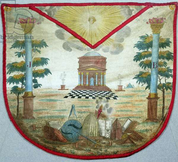 Apron of a Master, 18th century (painted leather)