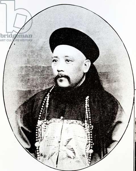 Yuan Shikai as Governor of Shandong (1899-1902) (b/w photo)
