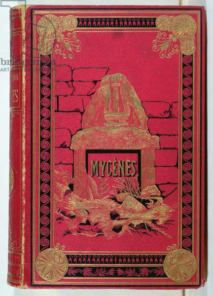Cover of 'Mycenes' by Heinrich Schliemann (1822-90) published in Paris, 1879 (leather)
