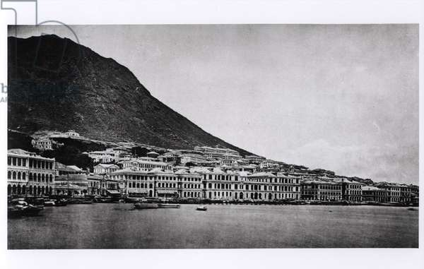 The Praya, Hong Kong, from 'Illustrations de la Chine et de ses Habitants' by J. Thompson, published in 1873 (b/w photo)