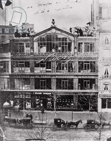 Studio of Nadar at 35 Boulevard des Capucines, Paris, c.1855 (b/w photo)