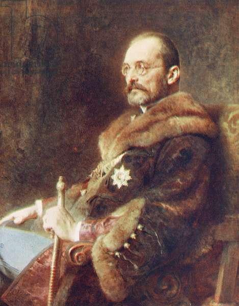 Count Stephen Tisza (colour litho)