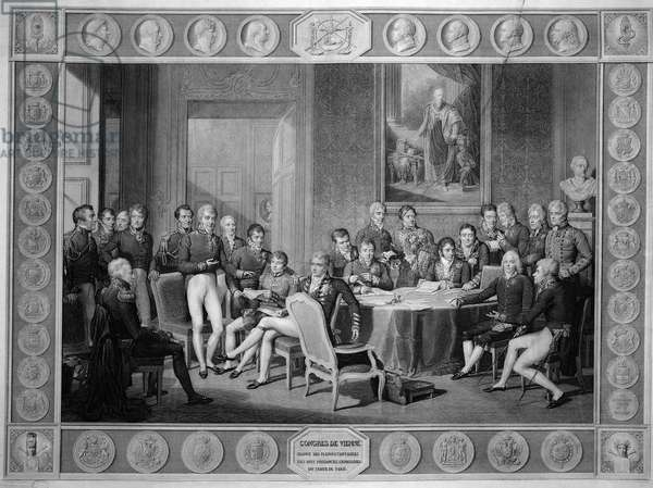 Congress of Vienna, 1814-15 (engraving) (SEE ALSO 79713)
