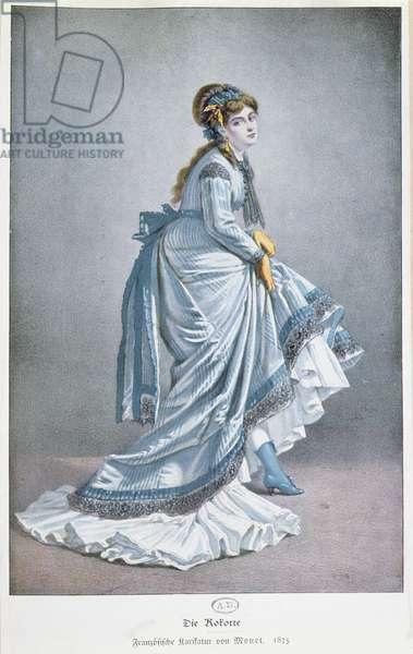 'Die Kokotte', 1875 (colour litho)