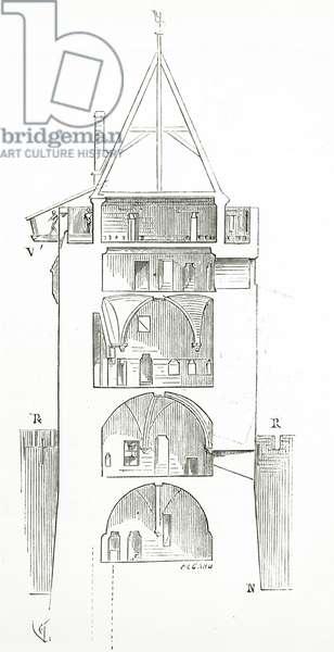 Drawing from 'Dictionnaire raisonné de l'architecture française du XIe au XVIe siècle', 1861 (engraving)