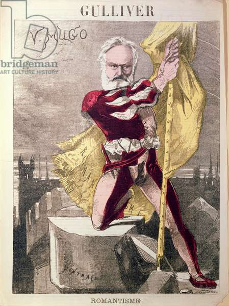 Caricature of Victor Hugo (1802-85) from 'Gulliver', c.1871-80 (colour litho)
