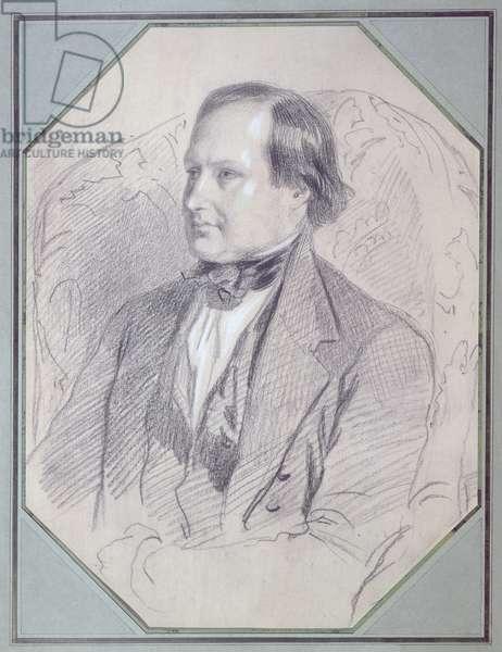 Victor Hugo (1802-85), 1843 (pencil on paper)