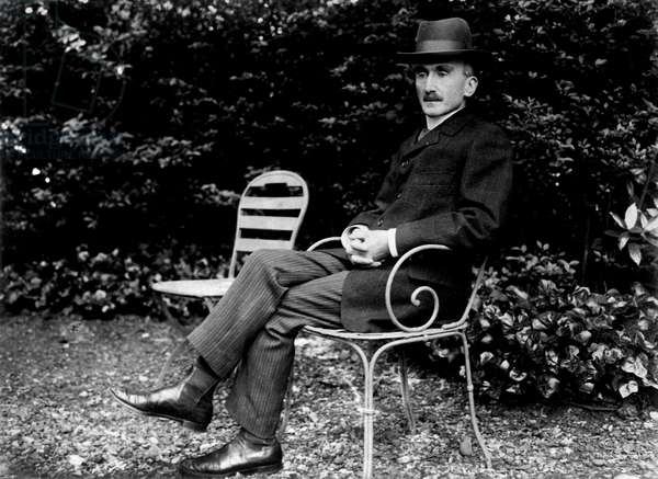Henri Bergson (1859-1941), early 20th century (b/w photo)