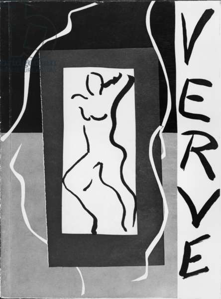 Front cover illustration of the review 'Verve', No 1, December 1937 (litho) (b/w photo)