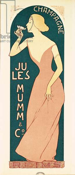 Poster Design for Champagne by Jules Mumm & Co., Reims, 1895 (colour litho)