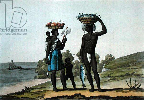 Black Slaves under a Good Master, Guyana, c.1820 (engraving)