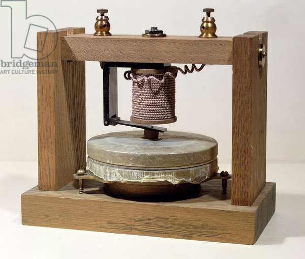 Prototype telephone design, 1873 (photo)