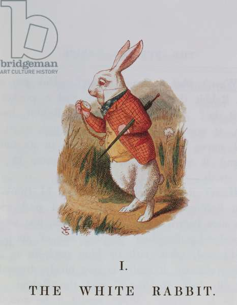 The White Rabbit, illustration from 'Alice in Wonderland' by Lewis Carroll (1832-98) adapted by Emily Gertrude Thomson (d.1932) 1889 (colour litho)