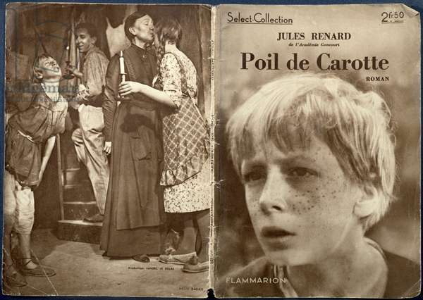 Cover of 'Poil de Carotte' by Jules Renard (1864-1910) with scenes from the 1932 film, published by Flammarion (litho)