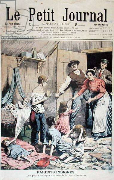 Indignant Parents, from 'Le Petit Journal', 2nd September 1906 (colour litho)