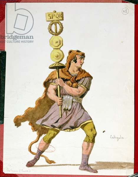 Praetorian, costume design for the first production of 'Caligula' by Alexandre Dumas (1802-70) at the Comedie Francaise, December 1837 (gouache on paper)