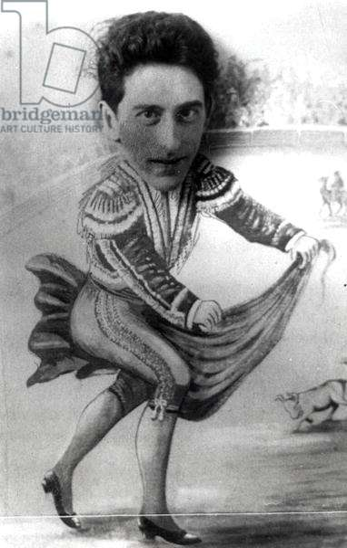 Jean Cocteau (1889-1963) as a Bullfighter, c. 1920 (photomontage) (b/w photo)