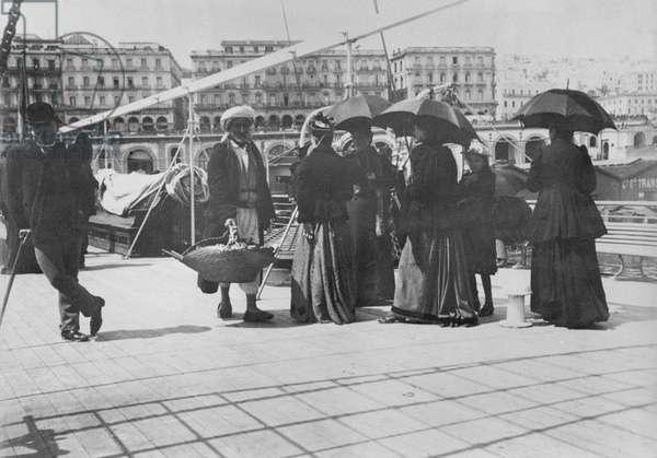 Algiers, late 19th century (b/w photo)