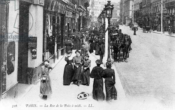 The Rue de la Paix, Paris, c.1900 (photolitho)