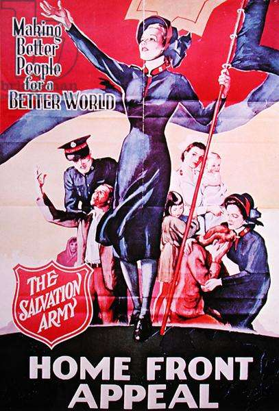 Making Better People for a Better World, Salvation army poster, 1939-45 (colour litho)