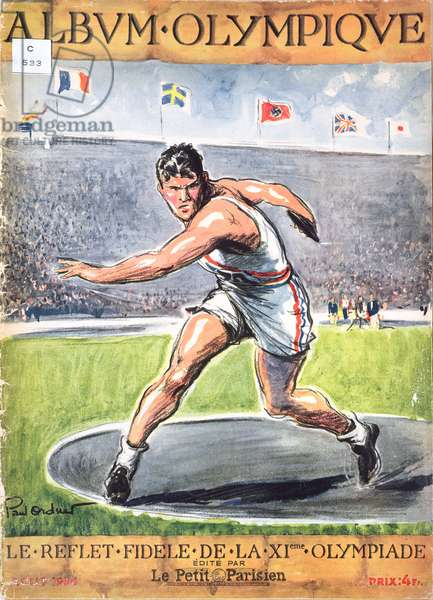 The Berlin Olympic Games, from 'Album des Jeux Olympiques', 1936 (colour litho)