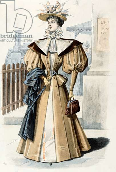 Fashion style, 1895 (coloured engraving)