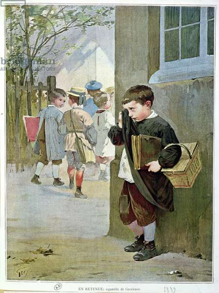 In Detention, 1889 (w/c on paper)