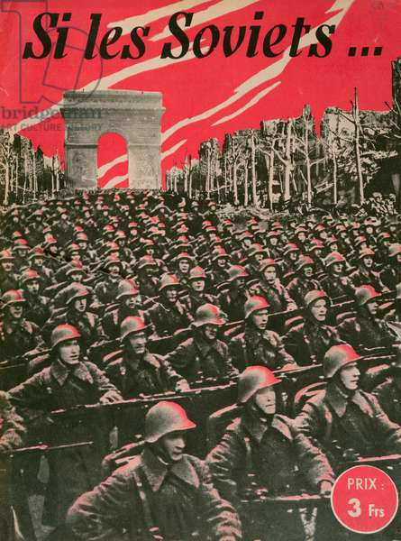 Vichy France anti Soviet propaganda, c.1943 (colour litho)