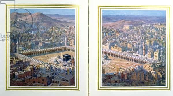 View of Mecca, 1918 (colour litho)