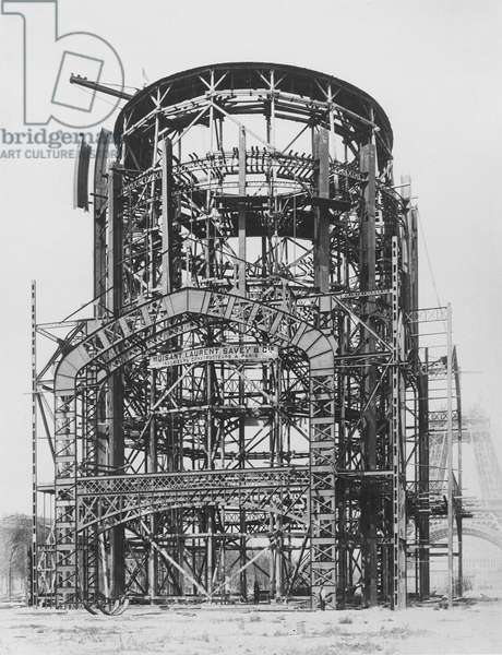 Construction of the Grand Dome Central for the Exposition Universelle, Paris, 1888 (b/w photo)