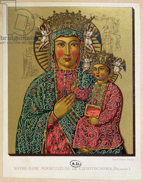 Our Lady of Czestochowa, late 19th century (colour litho)