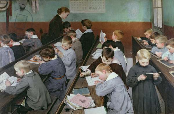 The Children's Class, 1889 (oil on canvas)