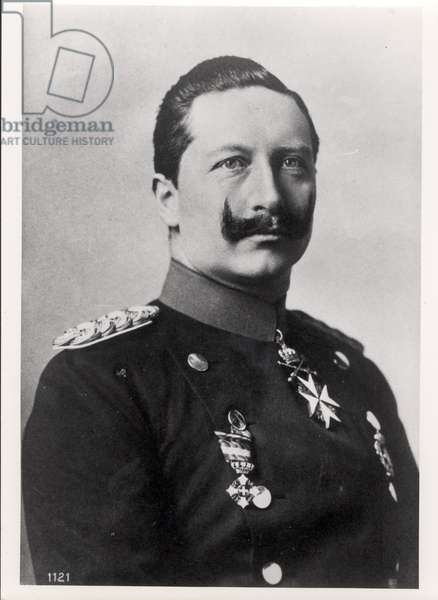 Kaiser Wilhelm II (1859-1941) Emperor of Germany and King of Prussia (1888-1918) c.1905 (b/w photo)