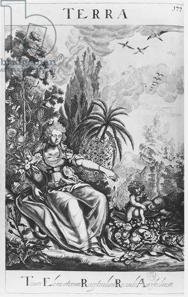 Terra, from 'L'Escalier des Sages ou la Philosophie des Anciens', by Barent Coenders van Helpen, 1693 (engraving)