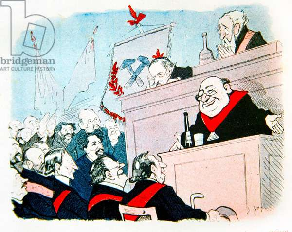 Freemasons at the Radical Congress, 1902 (colour litho)