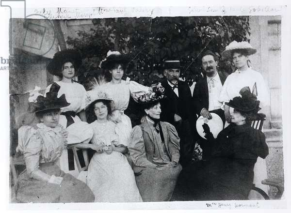 Group Portrait with Stephane Mallarme (1842-98), Summer or Autumn 1896 (b/w photo)