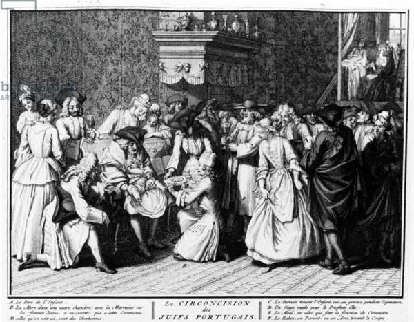 Circumcision Ceremony among Portuguese Jews, 1725 (engraving)