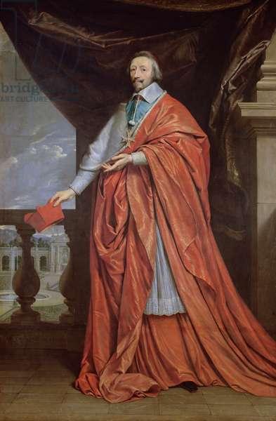 Portrait of Armand-Jean du Plessis, Cardinal Richelieu (1585-1642) (oil on canvas)