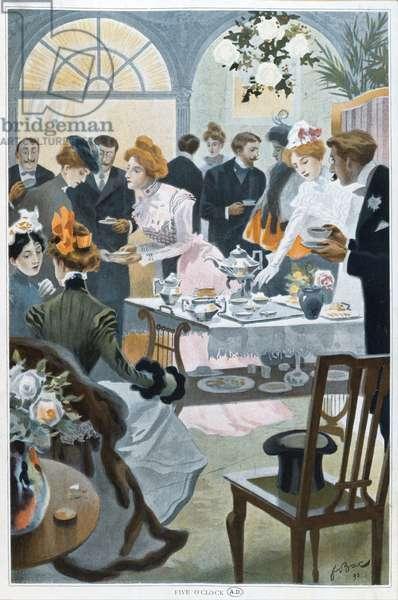 'Le Five O'Clock', 1898 (colour litho)
