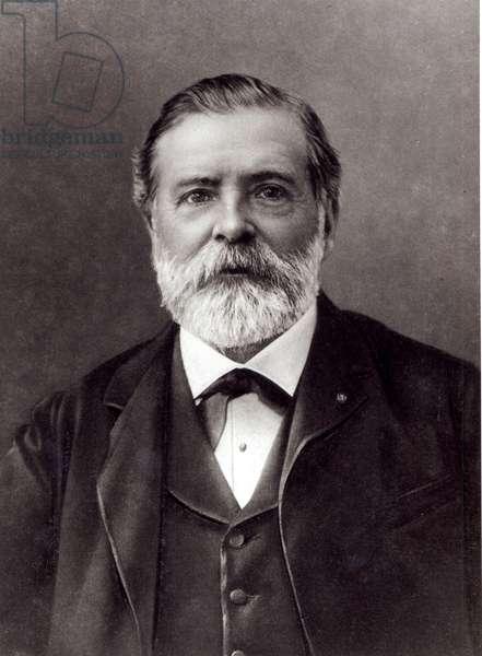 Portrait of Etienne Jules Marey (b/w photo)