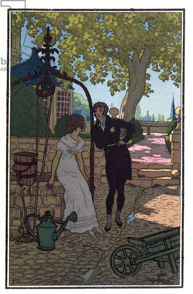 Charles and Eugenie Grandet, illustration from 'Eugenie Grandet' by Honore de Balzac (1799-1850) 1913 (litho)