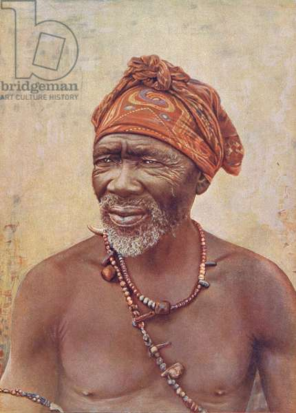 South African Medicine Man (coloured photo)